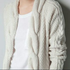 Zara knit braided grandpa cardigan szM